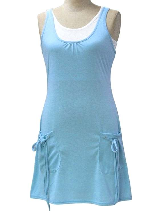 light teal color dresses affordable white crop tank top and solid color dress twinset light blue m light teal blue bridesmaid dresses