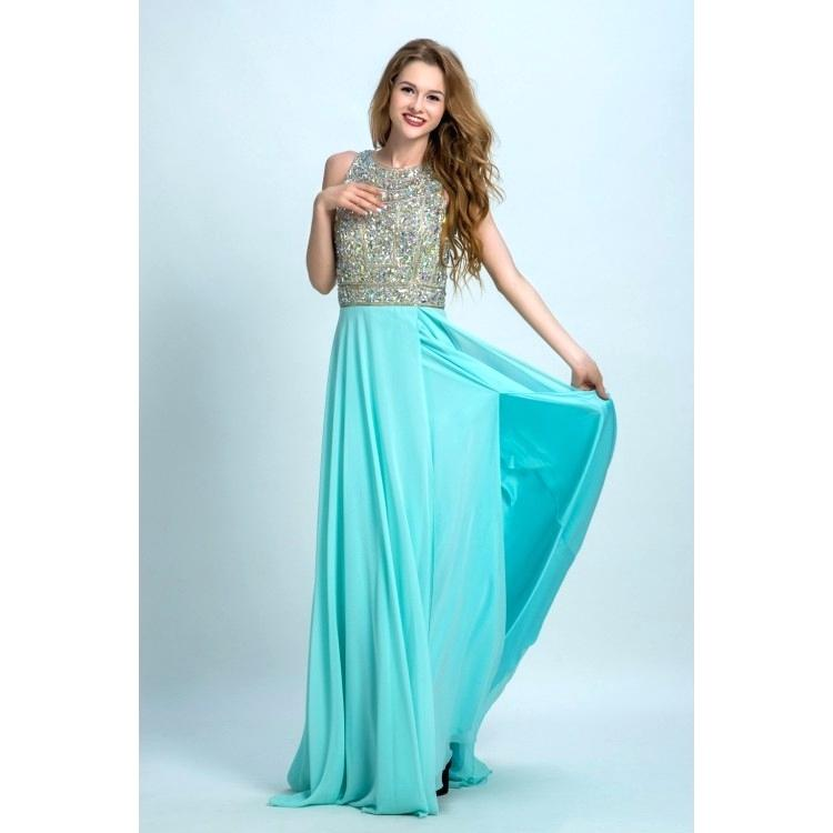light teal color dresses discount floor length prom evening dress long light blue dresses with open back rhinestone round light prom dresses light teal blue prom dresses