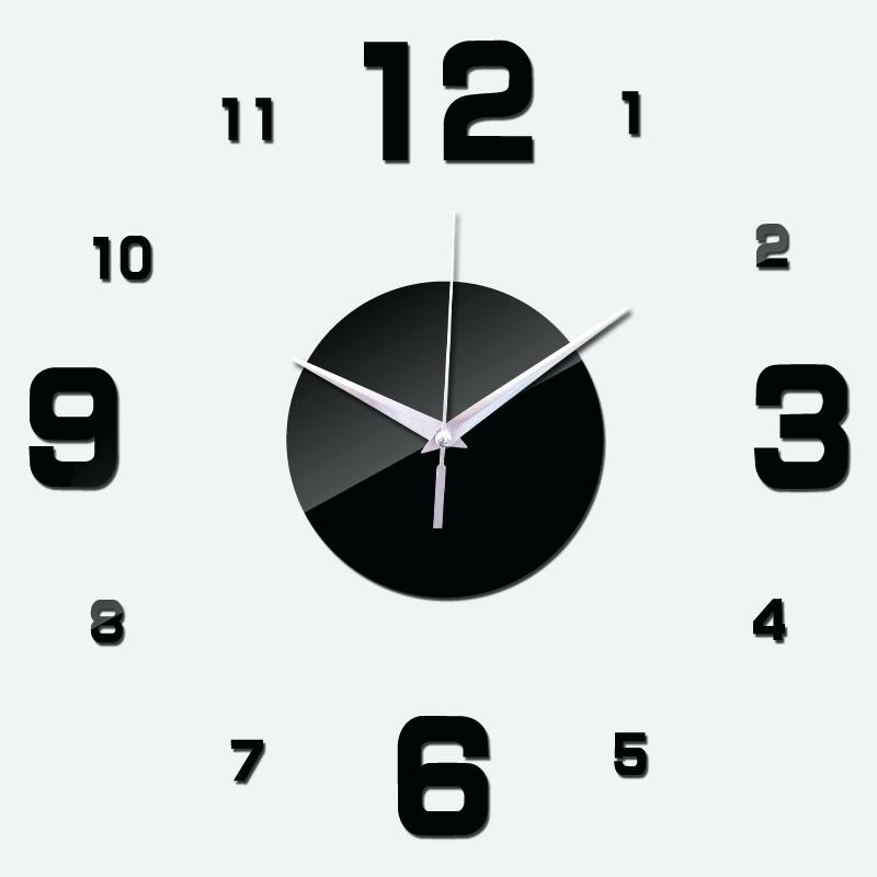 modern clock face hot sale promotion real wall clock watch clocks living room quartz acrylic stickers single face modern free shipping in wall clocks from home