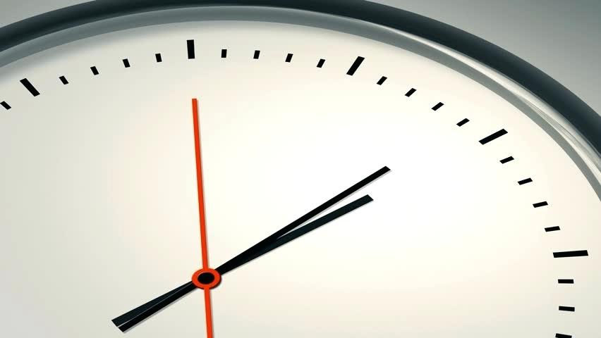 modern clock face seconds to stock footage clip