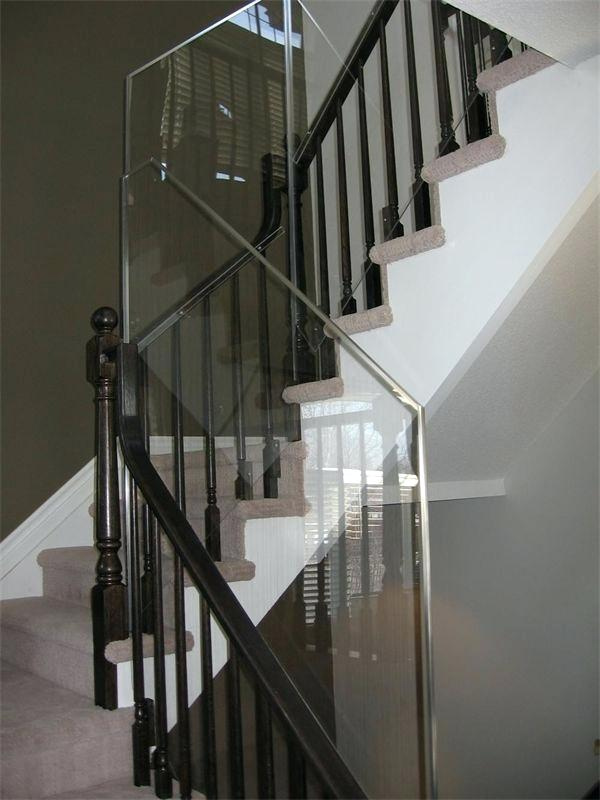 plexiglass railing guard stairs railing custom stair protection guard made of